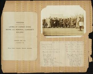 Wayne County 1924-1925 Scrapbook page