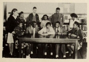 Yearbook staff from the Johnston County Training School, 1947.