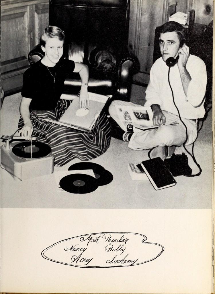 Yearbook photo 1956 Pep Pac
