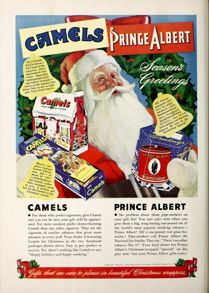 "1940: ""No problem about those pipe-smokers on your gift list!"""