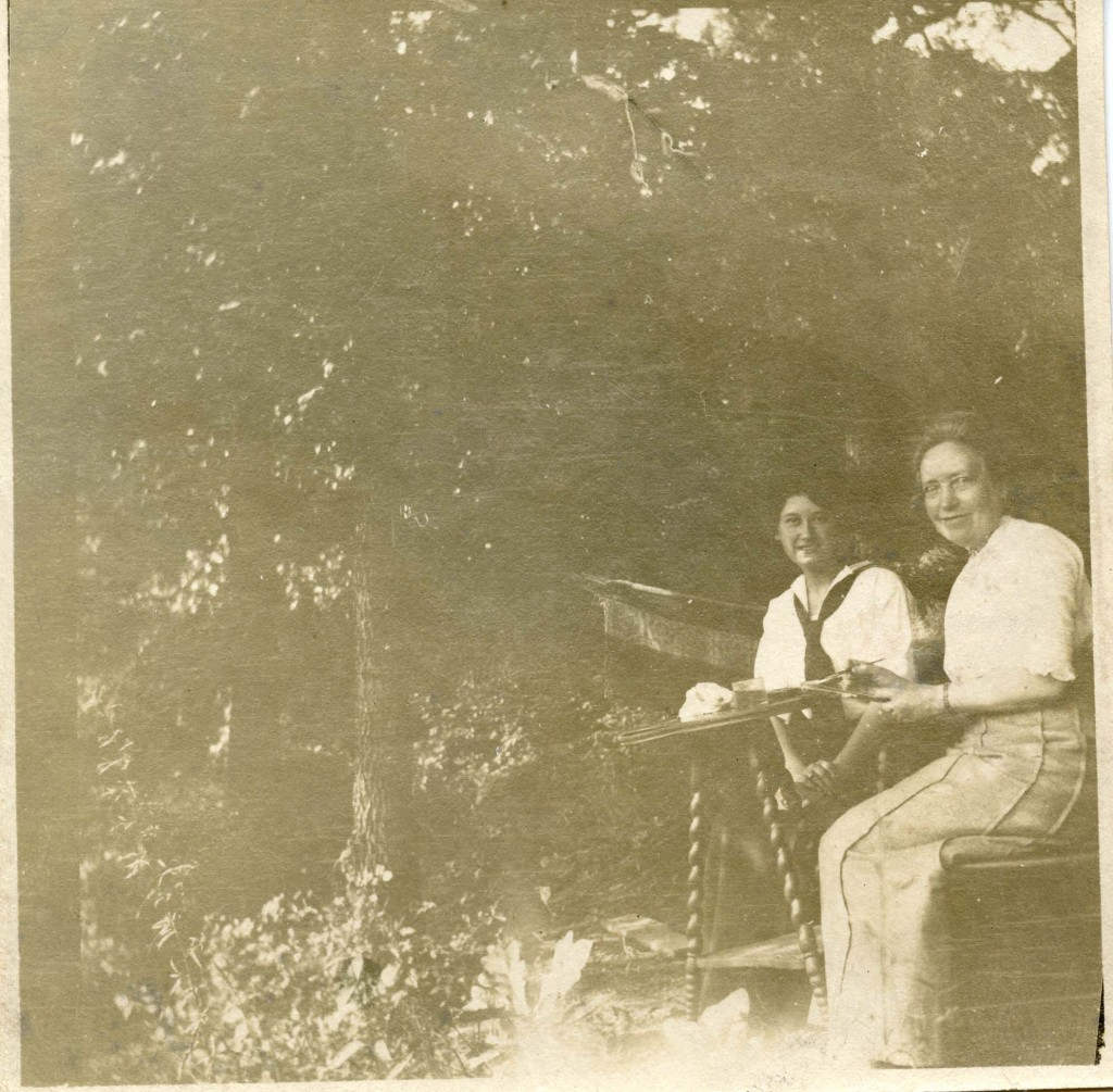 Undated photograph of Pauline Bahnson (left) and Anna M. Siedenburg, Bahnson graduated Salem College in 1910. Courtesy Salem College Archives.