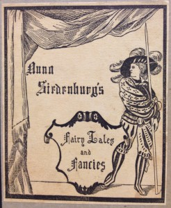 The cover of Fairy Tales and Fancies, by Anna Siedenburg, Chicago, 1895. Courtesy Davis Library, UNC Chapel Hill.