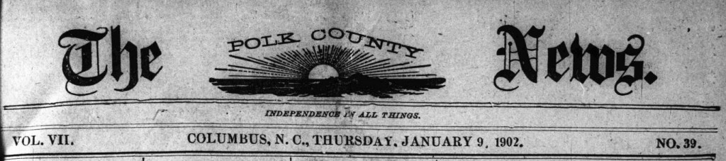 Polk County News Now Available Online and Digital Heritage Center Welcomes Partner Number 170