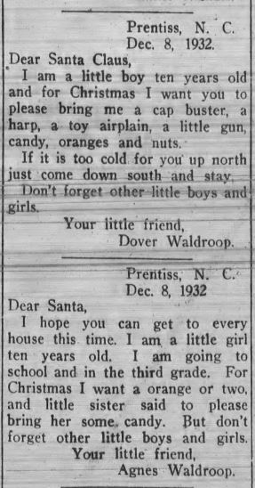 Letters from The Franklin Press, December 2, 1932.