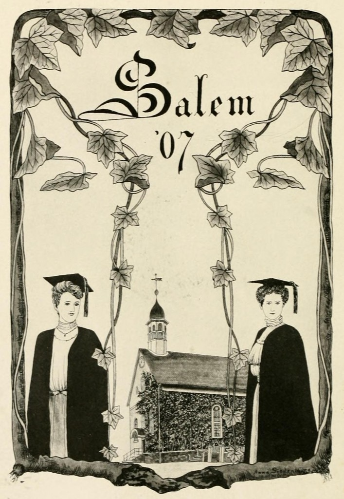 Siedenburg illustration from the 1907 Salem College Sights and Insights