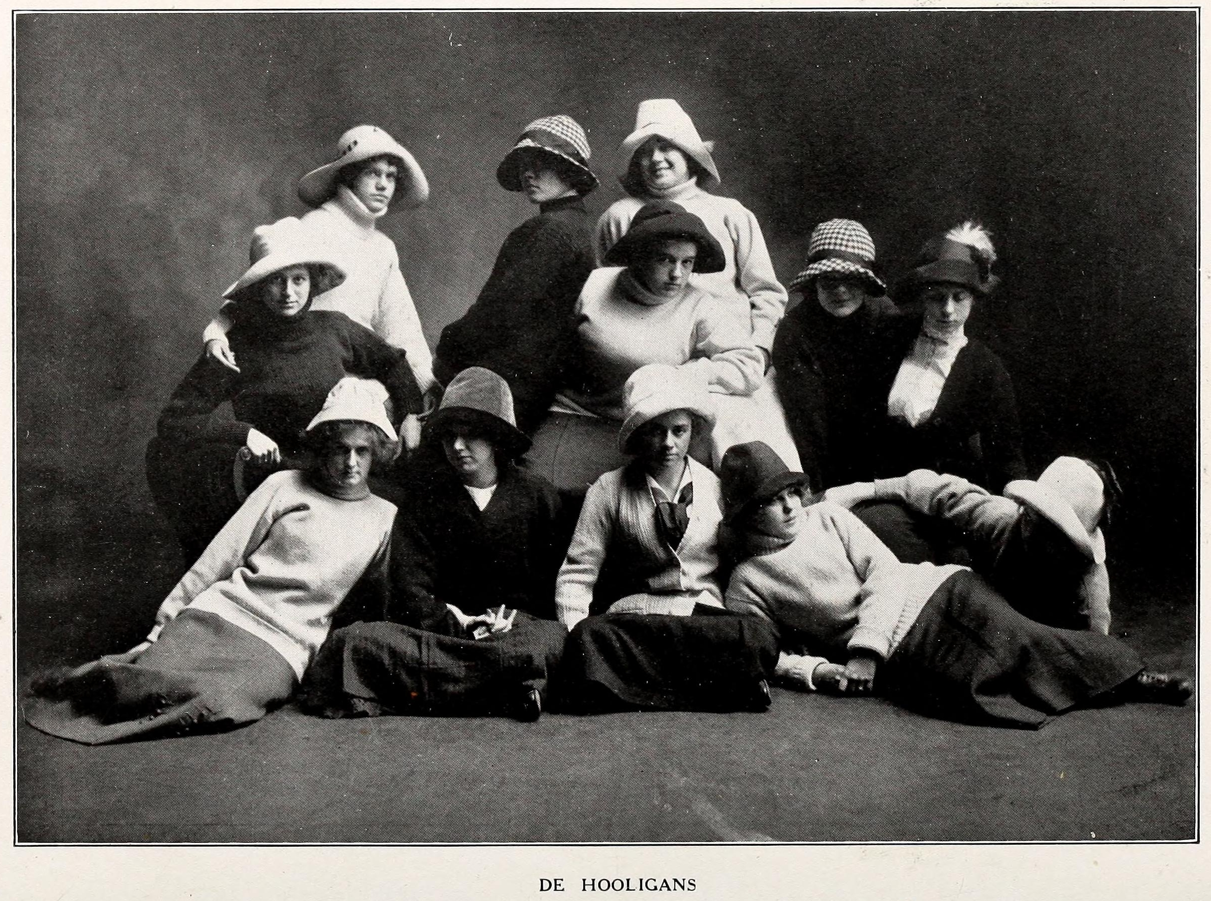 "From the 1912 Elizabeth College Yearbook, ""De Hooligans"""