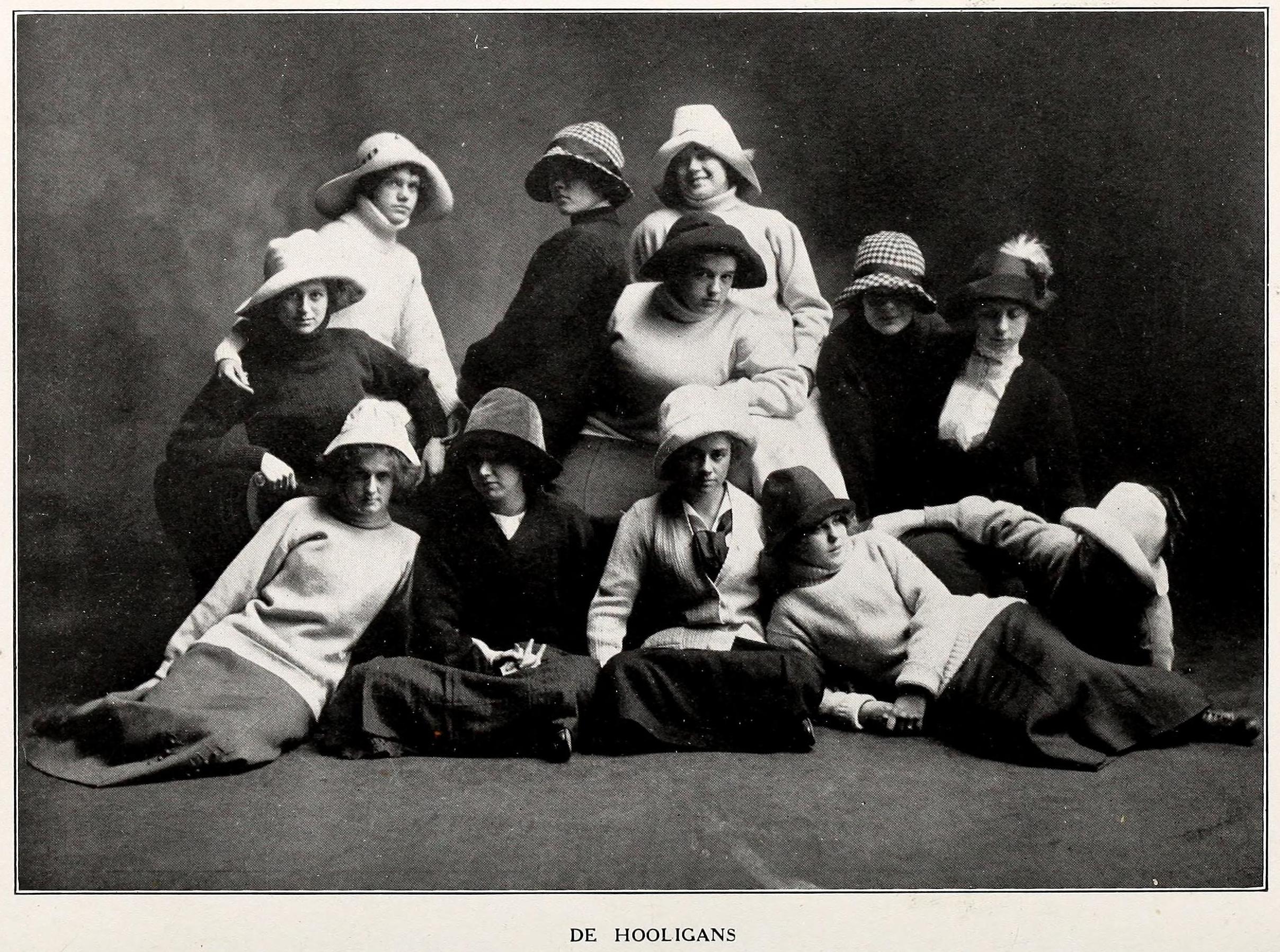 """From the 1912 Elizabeth College Yearbook, """"De Hooligans"""""""