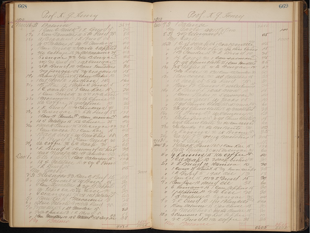 Patterson's General Store Ledger from the Chapel Hill Historical Society Now Available!