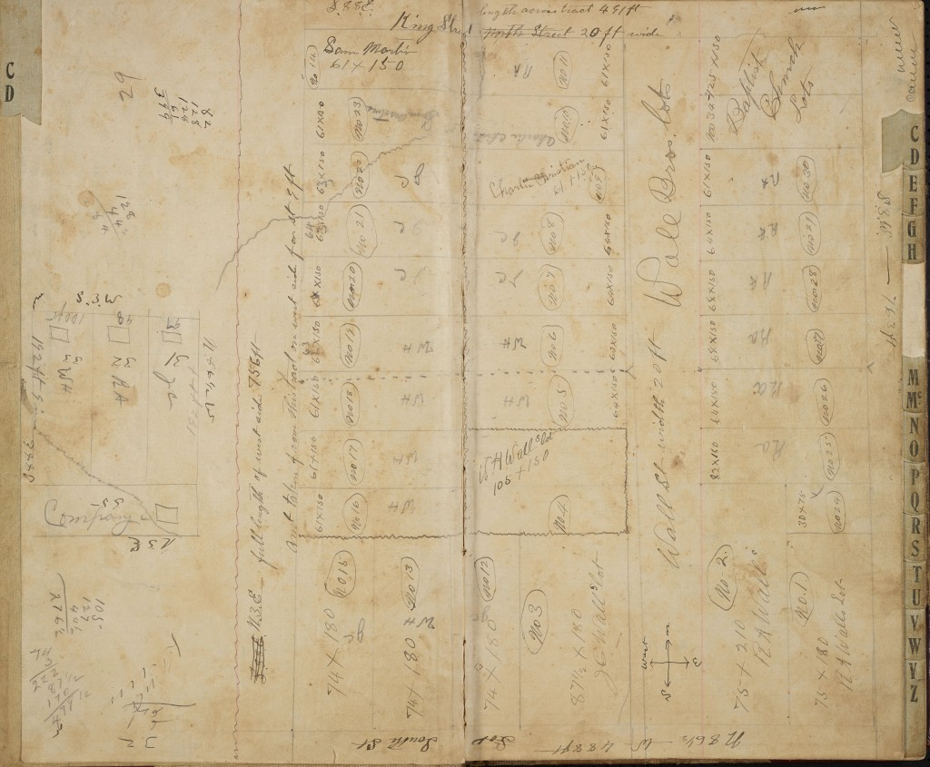 Wall Brothers ledger, Map of Kingville Community