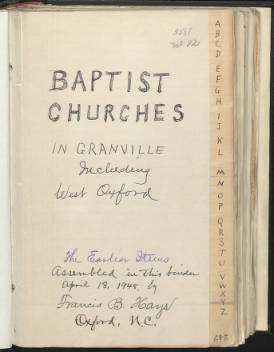 Baptist Churches of Granville