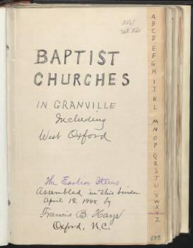 Baptist Churches of Granville