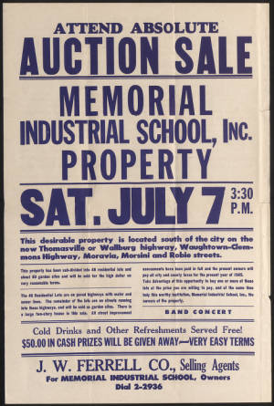 Memorial Industrial School Poster