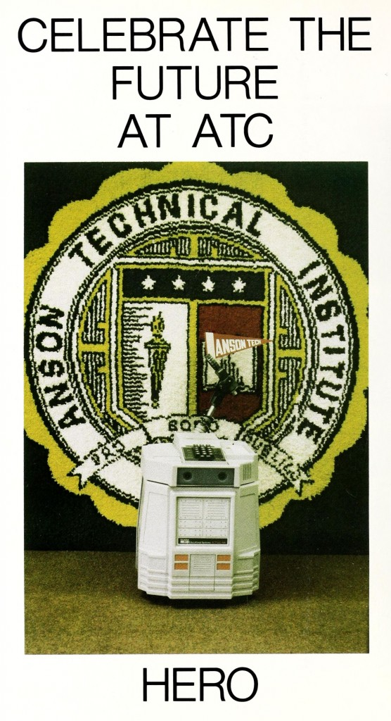 Educational robot from Anson Technical College's 1984 yearbook.