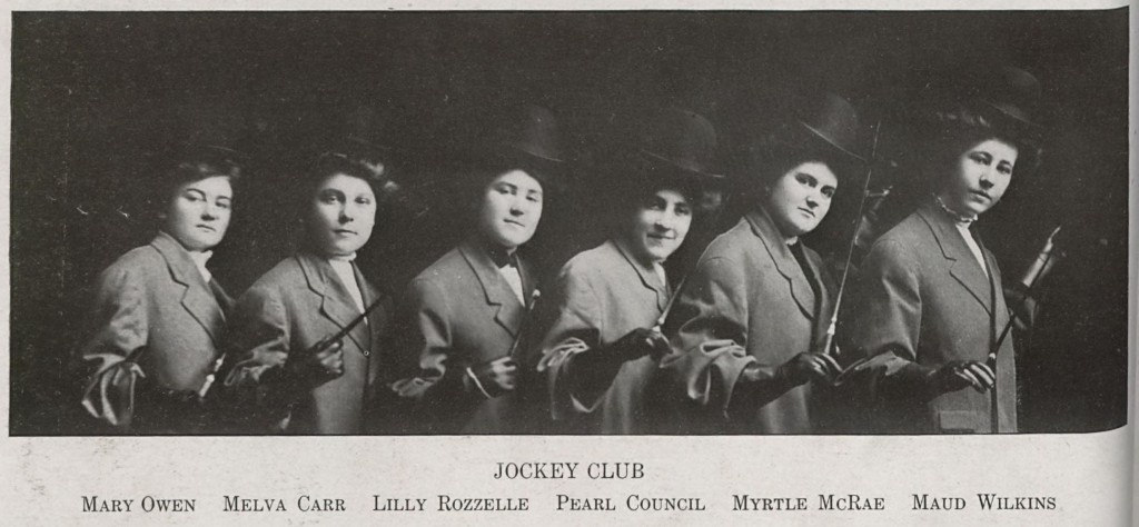 Jockey Club, Presbyterian College for Women, 1908.