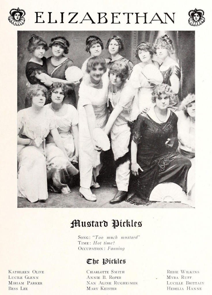 Mustard Pickles, The Elizabethan, Elizabeth College, 1914.