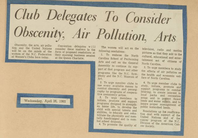 Club Delegates To Consider Obscenity, Air Pollution, Arts