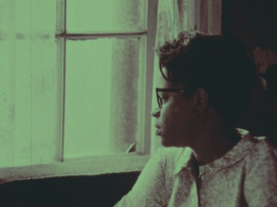 Still from No Handouts for Mrs. Hedgepeth, 1968, which documented a Durham family living below the poverty line.