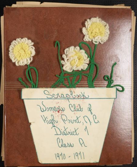 High Point Woman's Club Scrapbook