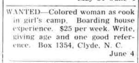 Waynesville Mountaineer, June 4, 1946.