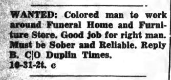 The Duplin Times (Warsaw, N.C.), October 31, 1947.