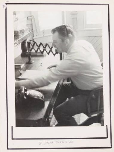 Telegram Operator, W. Ralph Barbour Jr.