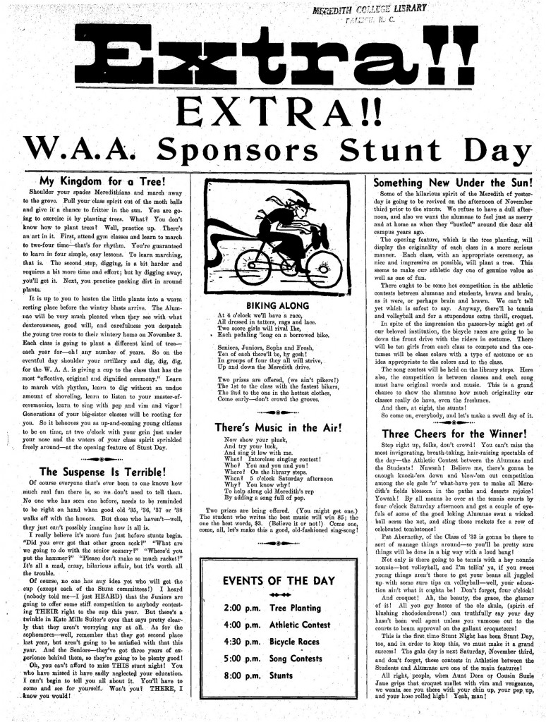 Extra Issue of The Twig, October 27, 1934