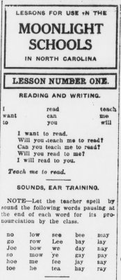 Excerpt from Moonlight School lesson number one