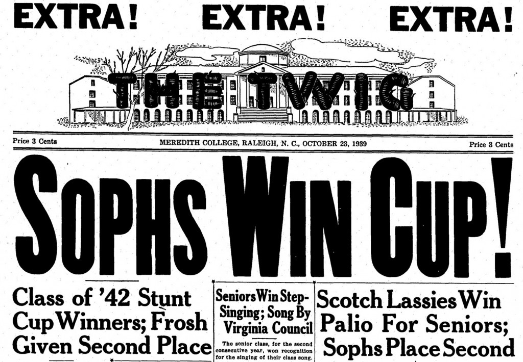 Headline from the October 23, 1939 issue of The Twig