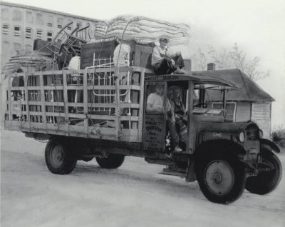 Moving Truck Transferring Family Possessions, from the Gaston County Museum of Art & History