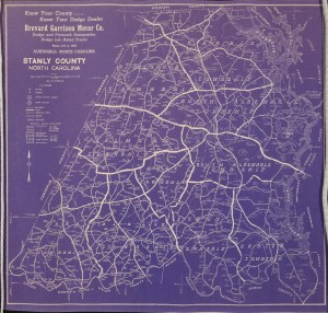 Maps, Panoramic Photos, and additional High School Papers from the Stanly County Museum
