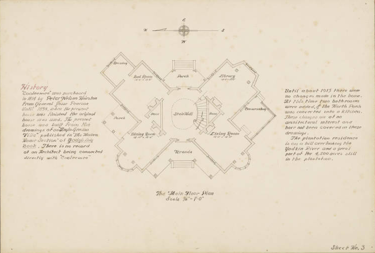Architectural Drawings and North Carolina Map Now Online