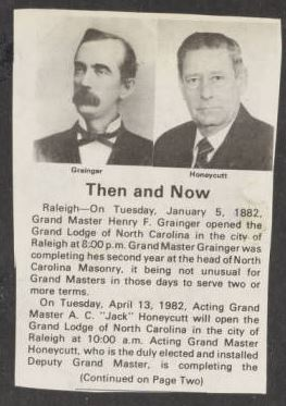 Then and Now: Grainger and Honeycutt