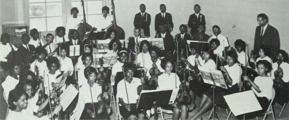 The West Charlotte Orchestra, from The Lion 1965.