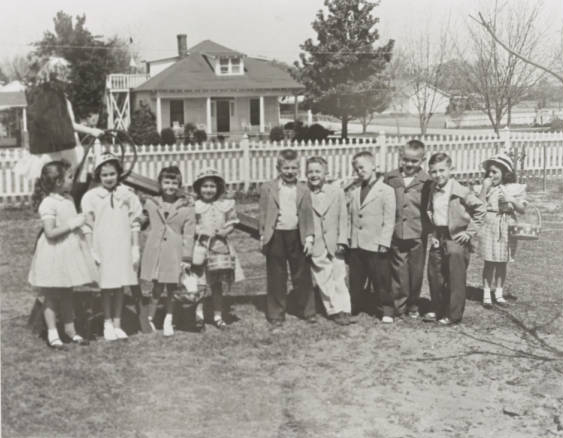 Easter Egg Hunt circa 1950.