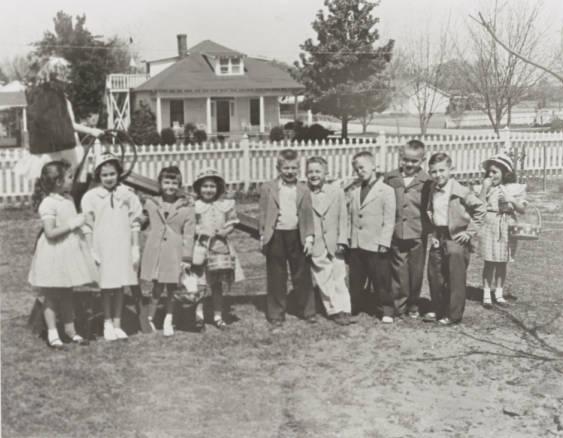 Easter Egg Hunt circa 1950.