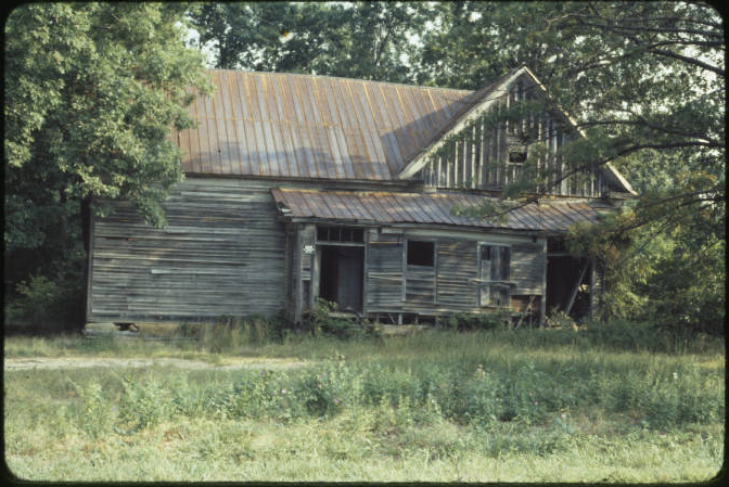Glencoe School in Rockingham County, photograph taken in 1980.