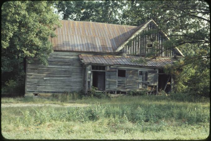 Glencoe School in Rockingham County, photograph taken in 1980.