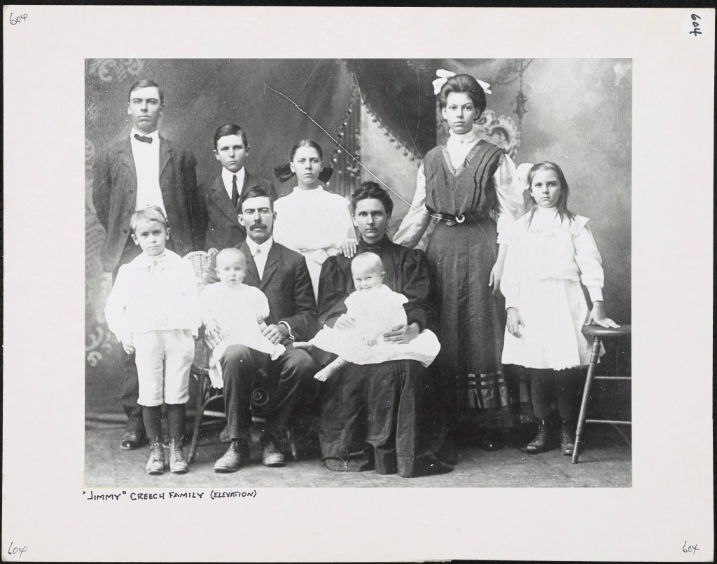 Victorian family of two adults and eight children