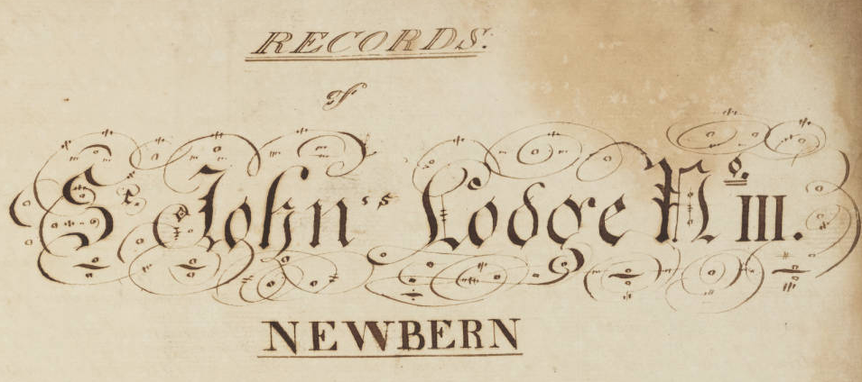18th Century Minute Books from the Grand Lodge of North Carolina Added to DigitalNC