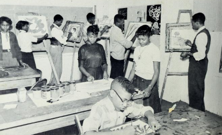Art at C. M. Eppes High School in 1955.