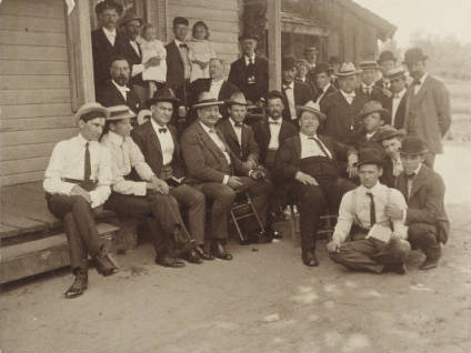 Members of Raleigh Lodge No. 500, circa 1900.