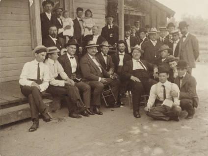 Members of Raleigh Lodge No. 500, circa 1900.