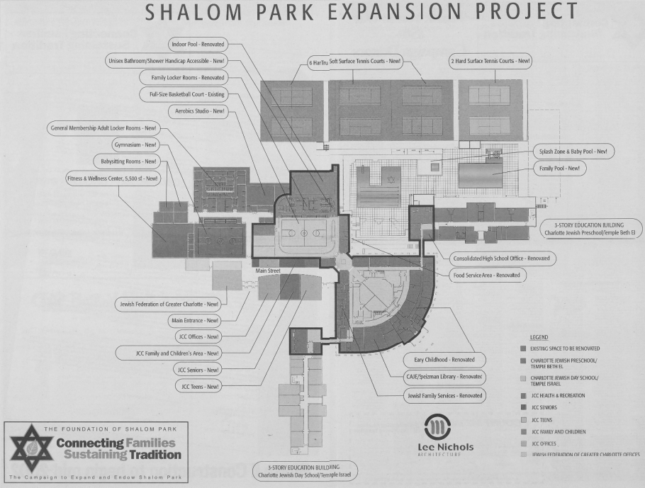 Plan for Shalom Park Expansion Project, December 2001.