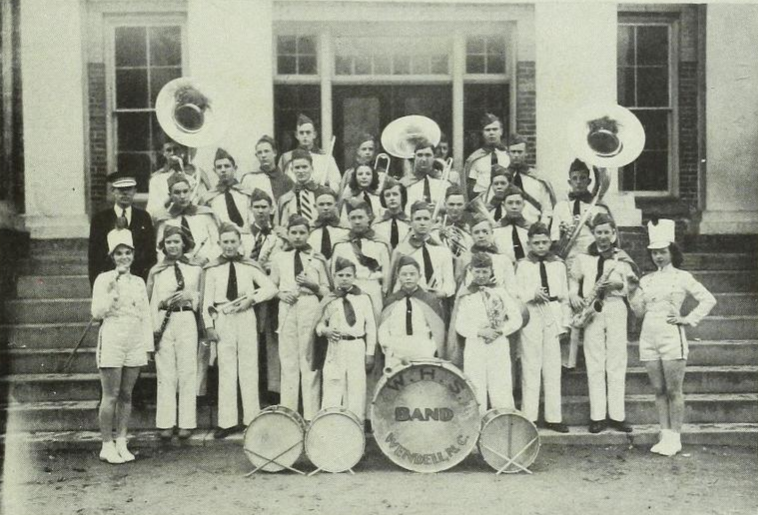 The Wendell High School Band, 1939.