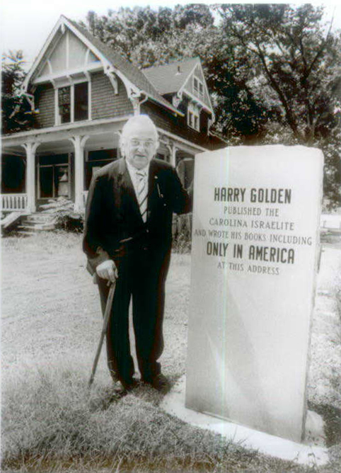 Harry Golden at his former home in Charlotte.