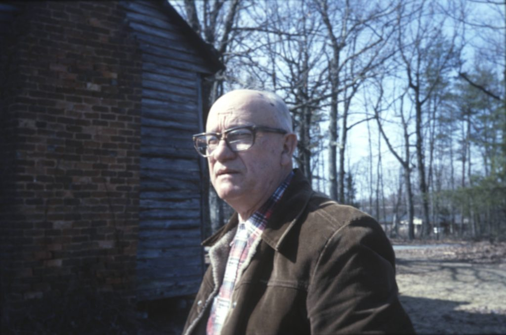 Unidentified man, presumably from Gaston County and interviewed for the Crafted with Pride Project in 1985.