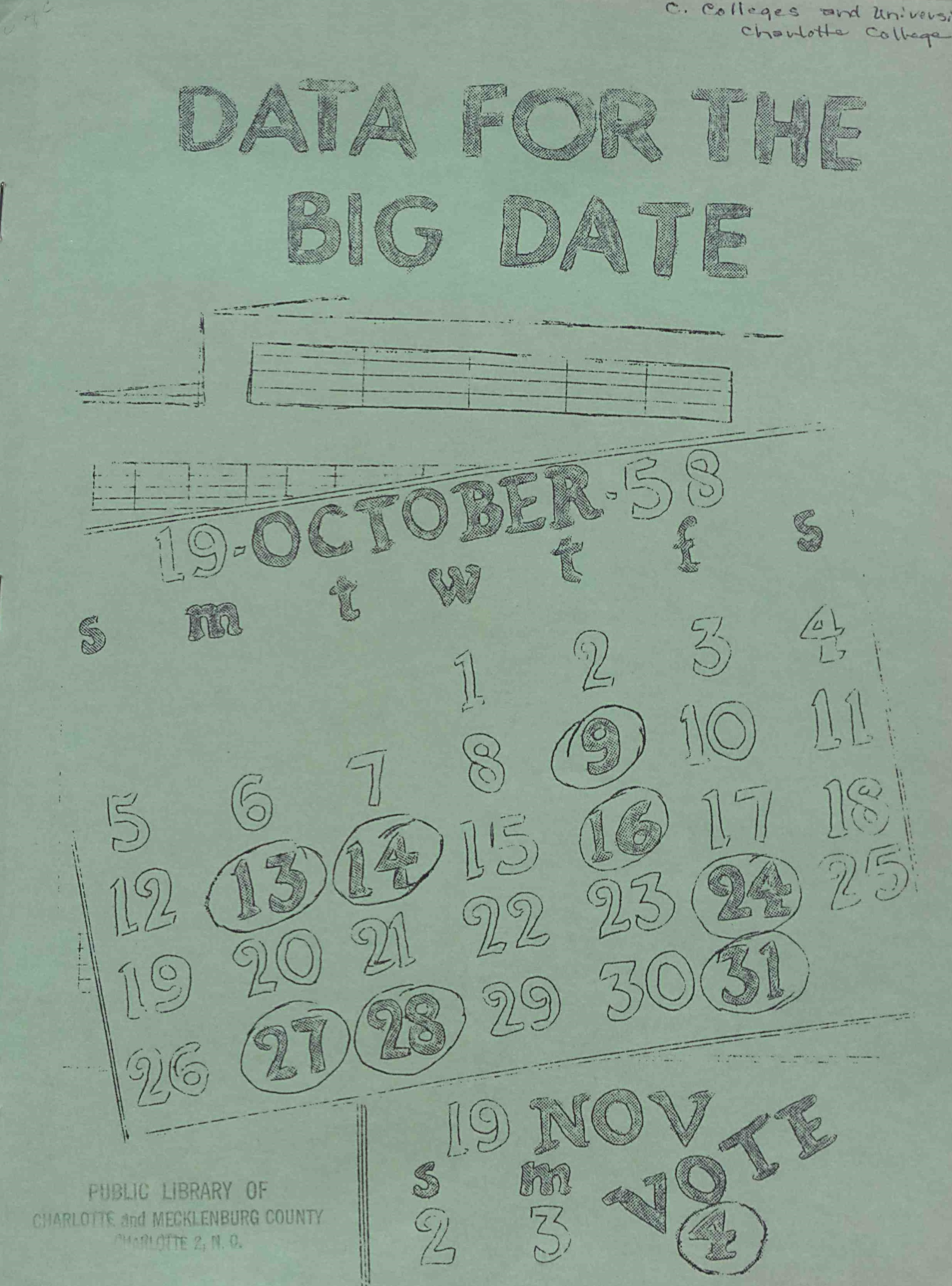 Data for the Big Date, cover