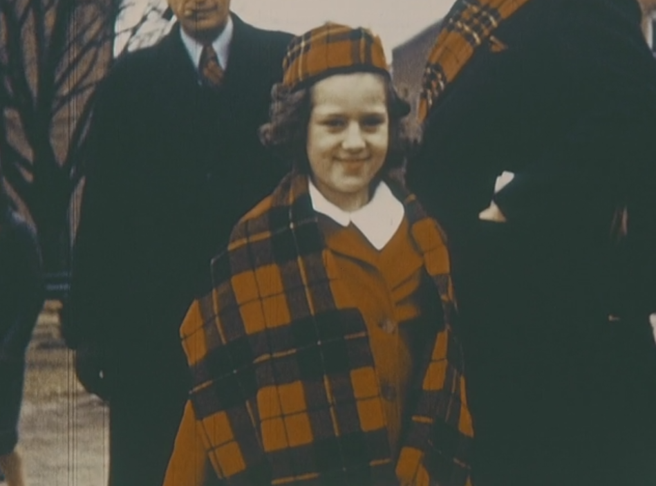 A girl wearing tartans at festivities surrounding Cumberland County's Sesquicentennial in 1939.
