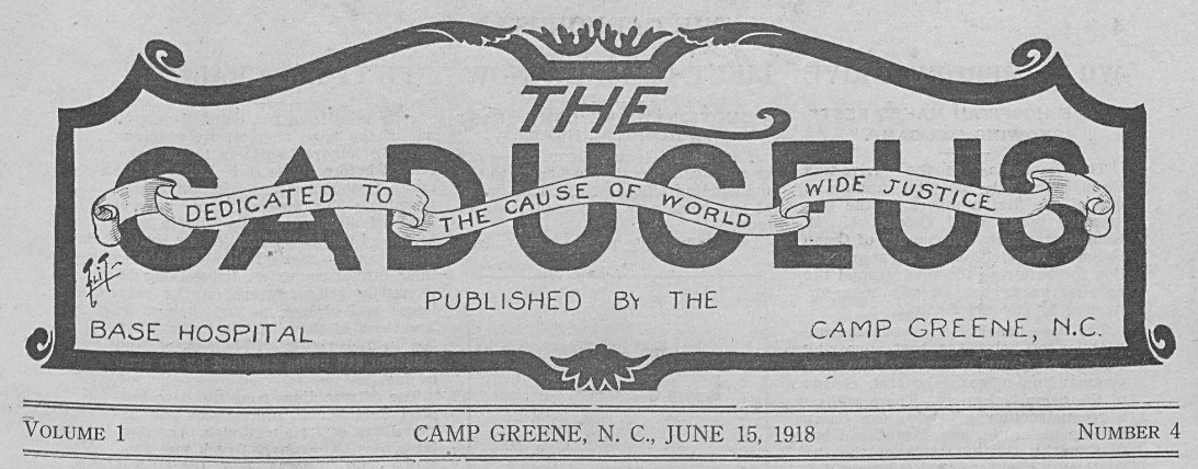 New Batch from Charlotte Mecklenburg Library Documents WWI in Charlotte– The Caduceus