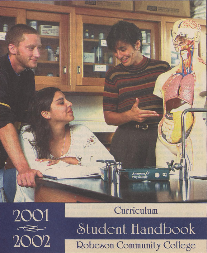 Robeson Community College Student Handbook [2001-2002], cover